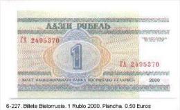 6-227. Billete Bielorusia 1 Rublo Año 2000 - Belarus