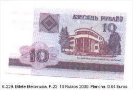 6-229. Billete Bielorusia . P-23. 10 Rublo Año 2000 - Belarus