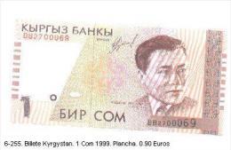 6-255. Billete Kirguistán . 1 Com 1999 - Kirguistán