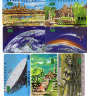 TELECARTES  CAMBODGE  2$/2$/5$/5$/10$/20$/50$     (lot De 7)  ***** - Cambodge