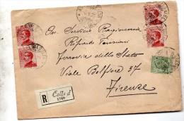 1926  LETTERA RACCOMANDATA  CON ANNULLO  Colle Di Val D'Elsa SIENA - Storia Postale