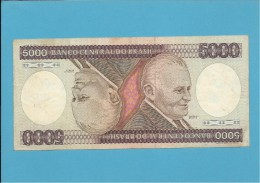 BRAZIL - 5000 CRUZEIROS -  ND (1985 ) - Pick 202d - SIGN. 22 - SÉRIE B 2170 - BANCO CENTRAL DO BRASIL - Brazil