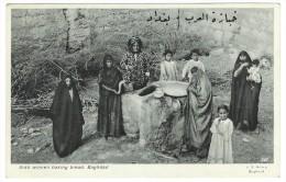 Post Card  - Arab Women Baking Breat, Baghdad. No Sent. - Iraq