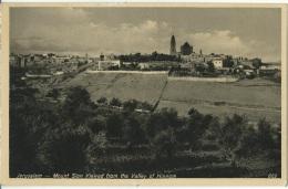 "U.P.U. - Post Card Palestine Israele - Jerusalem  ""Mount Sion Viwed From The Valley Of Hinnom""  No Sent. - Israele"