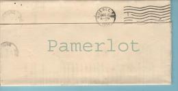 Stampless 1914 ( Postmark  Quebec à Bishop Crossing  Cachet Cover Flag  Avec Un | Dans Le Drapeau ) 2 Scan - 1911-1935 Reign Of George V