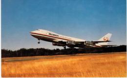 Thème -  Avion - Mary Jayne´s Railroad Sp. - JAL Japan Air Lines Cargo - Boeing 747 246F - Everett 1974 -  8.5*13.5  Cm - 1946-....: Moderne