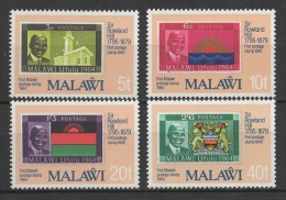 Malawi (1979) Yv. 338/41  /  Timbre Sur Timbre - Stamp On Stamps - Sello Sobre Sello - Postzegels Op Postzegels