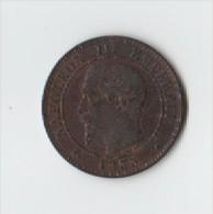 2 CTS  NIII. 1855 BB.ANCRE  .PEU COMMUN. - Francia