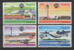 Malawi (1983) Yv. 405/08  /  Aircraft - Avion - Airplane - Flugzeug - Airport - Airplanes