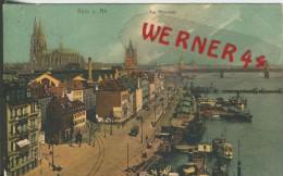 Köln V. 1916 Am Rheinufer  ()  --  Siehe Foto !!  (29464) - Köln