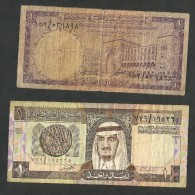 [NC] SAUDI ARABIA - SAUDI ARABIAN MONETARY AGENCY - 1 RIYAL (1968 & 1984) LOT Of 2 BANKNOTES - Arabia Saudita