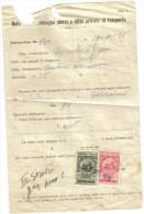 Marche Da Bollo Tassa Di Trasporto 20+25 Cent Destinatario Su Bolletta 1936 C.1478 - Italia
