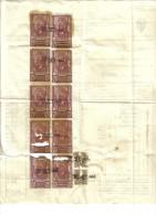 Marche Da Bollo Industria E Commercio 10 Per 20 Lire + 2 X 30 Cent Su Fattura Emilio Fagioli Osimo 1944 C.1479 - Italia