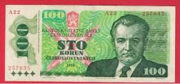 TCHECOSLOVAQUIE  //  100 KORUN 1989  //  PICK # 97 - Czechoslovakia