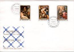 PENRHYN. N°136-8 Sur Enveloppe 1er Jour (FDC) De 1981. Pâques/Tableaux Sur La Mort De Jésus-Christ. - Pasen