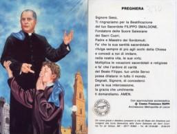 Santino BEATO FILIPPO SMALDONE (Suore Salesiane Dei Sacri Cuori) Con RELIQUIA (Ex-Indumentis) - OTTIMO G23 - Religione & Esoterismo