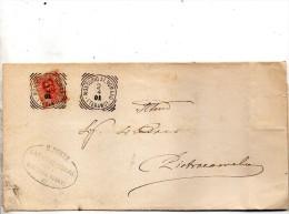 1901 LETTERA CON ANNULLO MONTORIO AL VOMANO  TERAMO - 1900-44 Vittorio Emanuele III