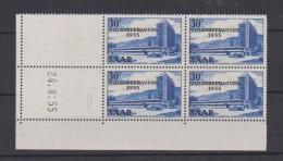 SARRE // Coin Daté  //  30 F Bleu     // N 346   //  24/8/1955   //  Neuf** - Saar