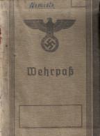 WEHRPASS LIVRET SOLDAT ALLEMAND WEHRMACHT - 1939-45