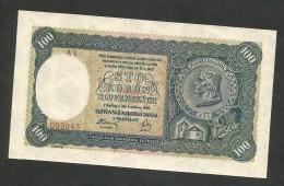 [NC] SLOVAKEI / SLOVAKIA - 100 KORUN (1940) - REPUBLIKA SLOVENSKA - Slovacchia