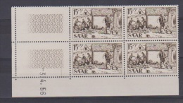 SARRE // Coin Daté  //  15 F + 5 F Brun       // N 352    //  3 / 04 / 1956    //  Neuf** - Saar
