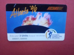 Prpaid Card Olympic Games 1996 Atlanta (Mint,New) Rare - Vereinigte Staaten