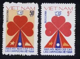 Vietnam MNH Perf Stamps 1983 : Laos - Cambodia - Viet Nam Summit Conference (Ms414) - Vietnam