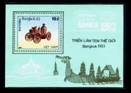 Vietnam Viet Nam MNH Perf Souvenir Sheet 1983 : Vintage Car / World Stamp Exhibition In Bangkok - Thailand (Ms426) - Vietnam