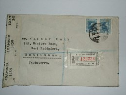 URUGUAY 1940`S REGISTERED CENSOR COVER MONTIVIDEO TO ENGLAND - Uruguay