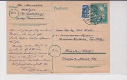 EP Cat.MICHEL P9+Notopfer BERLIN 2 Pf Obl.METTINGEN (Westf.)8.10.49 V.Münster.TB - [7] République Fédérale