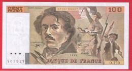 DELACROIX  //  100 FRANCS  1993  //  N  # 0.230  // - 1962-1997 ''Francs''