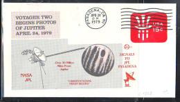 SPACE - USA - 1979 NASA JPL PHOTOS OF JUPITER SPECIAL COVER WITH PASADENA POSTMARK - FDC & Commémoratifs