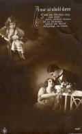 AK ANGEL FOTOGRAFIE SURREALISME LIEBE  PAARE OLD POSTCARD 1915 - Anges