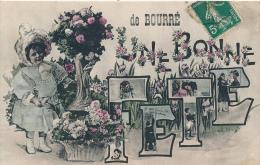 BOURRE - Carte Souvenir, Une Bonne Fète - France
