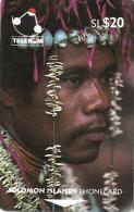 "SOLOMON ISLANDS $20 PEOPLE OF SI MAN FROM SANTA ANA 1ST TYPE ""C"" ON REVERSE 1993 GPT CODE: SOL-07 READ DESCRIPTION !! - Solomoneilanden"