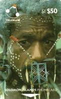 "SOLOMON ISLANDS $50 PEOPLE OF SI MAN FROM SANTA CRUZ 1ST TYPE ""C"" ON REVERSE 1993 GPT CODE: SOL-08 READ DESCRIPTION !! - Isole Salomon"
