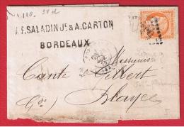 FACTURE  //  De Bordeaux  //  Pour Blaye  //  27 Oct 1875 - 1849-1876: Classic Period