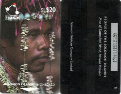 "SOLOMON ISLANDS $20 PEOPLE OF SI MAN FROM SANTA ANA 2ND TYPE ""B"" ON REVERSE 1993 GPT CODE: SOL-07A READ DESCRIPTION !! - Isole Salomon"