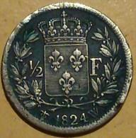 1/2 FRANC LOUIS XVIII - France