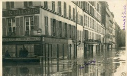 Crue De La SEINE 1910 QUAI D'ORSAY   Carte Photo  -pub Biere LA COMETE - La Crecida Del Sena De 1910