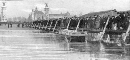 PARIS INONDE   Pont Du Génie Esplanade Des Invalides -FORMAT 13X7 - La Crecida Del Sena De 1910