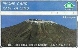 TANZANIA 50 UNITS MOUNT KILIMANJARO  L&G CODE: 302A 1ST ISSUE !!!!!!! TAN-O-01 1993 READ DESCRIPTION  !!!!