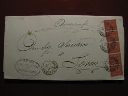 """ITALIA Regno-1866- """"T 15 Torino"""" C. 2 VILLAFRANCA Di VERONA>SONA (descrizione) - Storia Postale"""