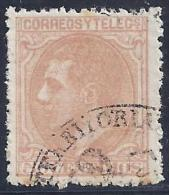"""ESPAÑA 1877 - Edifil #189 Matasellos """"AUDIENCIA TERRITORIAL"""" - VFU - Usados"""