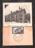 CARTE MAXIMUM MONACO Institut De Paléonthologie 5-3-1949 - Cartoline Maximum