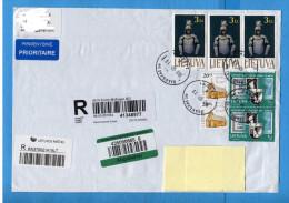 Litauen, To Switzerland , 2012  Cover,  Brief, (Fragment) - Lithuania