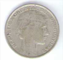 URUGUAY 20 CENTAVOS 1942 AG - Uruguay