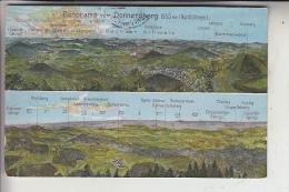 BÖHMEN & MÄHREN - DONNERSBERG / MILESOV, Panorama-Ansichten, Landpoststempel - Sudeten