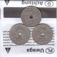 3 X 25 Centimes  Léopold III 1938FL/FR - 1938 FR/FL Et 1939 FR/FL - 03. 25 Centimes