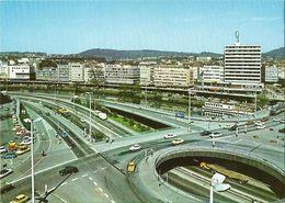 AK Saarbrücken Berliner Promenade Verkehr Autos Farbfoto ~1970 #1909 - Saarbruecken
